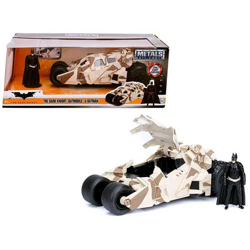 """The Dark Knight"" Batmobile with Batman Diecast Figure Camouflage Version ""DC Comics"" Series 1/24 Diecast Model Car by Jada"