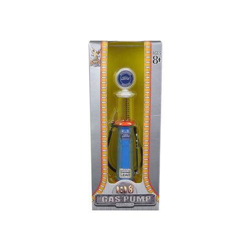 Ford Gasoline Vintage Gas Pump Cylinder 1/18 Diecast Replica by Road Signature