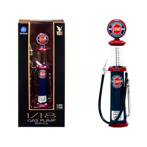 """""""Studebaker"""" Vintage Cylinder Gas Pump 1/18 Diecast Replica by Road Signature"""