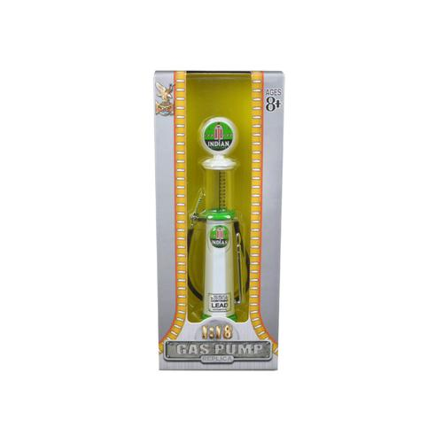 Indian Gasoline Vintage Gas Pump Cylinder 1/18 Diecast Replica by Road Signature