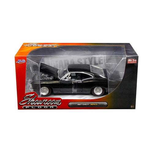 "1967 Chevrolet Impala Black \""Showroom Floor\"" 1/24 Diecast Model Car by Jada"