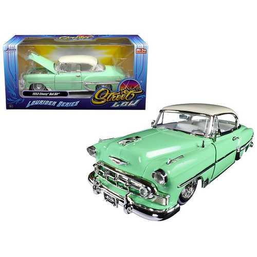 "1953 Chevrolet Bel Air Light Green ""Lowrider Series"" Street Low 1/24 Diecast Model Car by Jada"