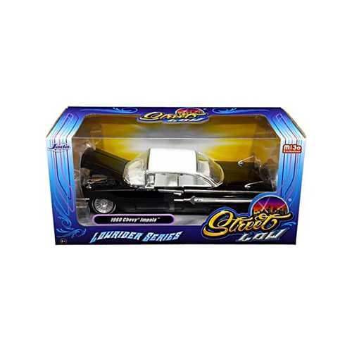 "1960 Chevrolet Impala Black ""Lowrider Series"" Street Low 1/24 Diecast Model Car by Jada"