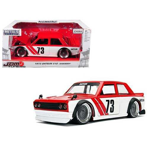 "1973 Datsun 510 Widebody #73 Red ""JDM Tuners"" 1/24 Diecast Model Car by Jada"