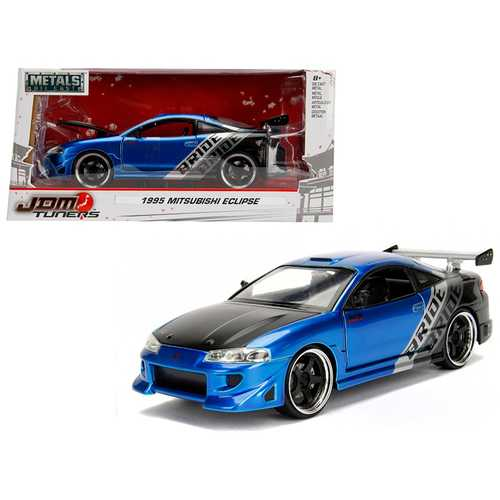 "1995 Mitsubishi Eclipse ""Bride"" Blue ""JDM Tuners"" 1/24 Diecast Model Car by Jada"