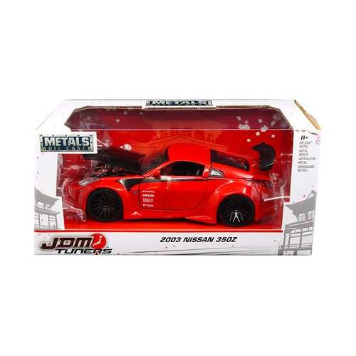 "2003 Nissan 350Z Red ""JDM Tuners"" 1/24 Diecast Model Car by Jada"
