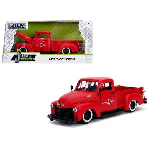 "1953 Chevrolet 3100 Pickup Truck Matt Red ""Custom Shop Classic Truck"" (Las Vegas, Nevada) ""Just Trucks"" Series 1/24 Diecast Model Car by Jada"