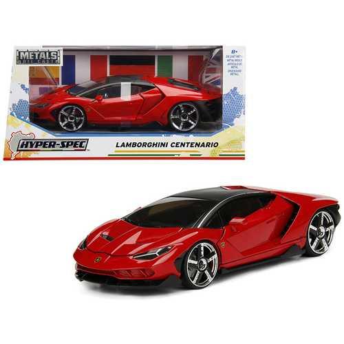 """Lamborghini Centenario Red """"Hyper-Spec"""" 1/24 Diecast Model Car by Jada"""
