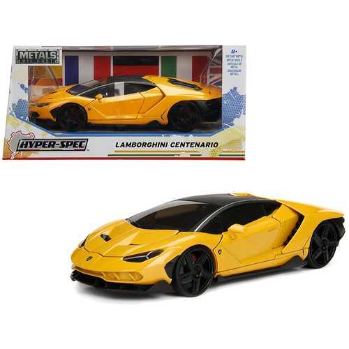 "Lamborghini Centenario Metallic Yellow ""Hyper-Spec"" 1/24 Diecast Model Car by Jada"