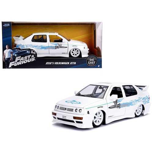 "Jesse's Volkswagen Jetta White ""Fast & Furious"" Movie 1/24 Diecast Model Car by Jada"