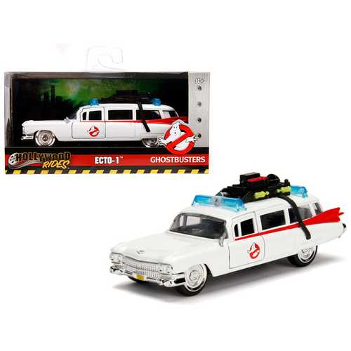 """1959 Cadillac Ambulance Ecto-1 from """"Ghostbusters"""" Movie """"Hollywood Rides"""" Series 1/32 Diecast Model Car by Jada"""