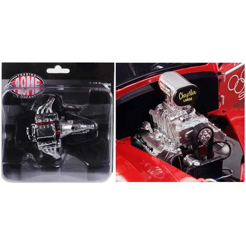 Engine and Transmission Replica Blown 426 Hemi Drag from 1941 Gasser 1/18 by ACME