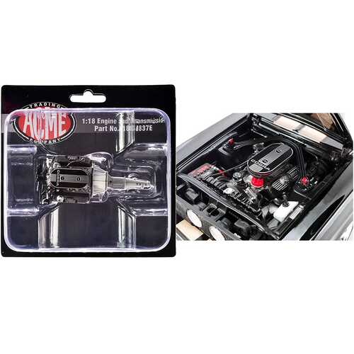 """Engine and Transmission 428 Cobra Replica from """"1967 Ford Mustang Shelby GT500"""" 1/18 by ACME"""