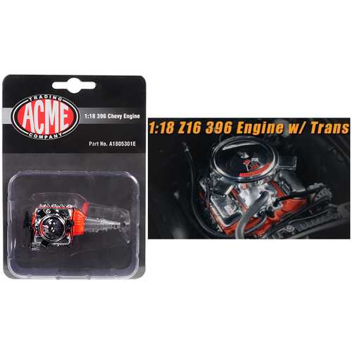 Engine and Transmission Replica  Z16 396 from 1965 Chevelle Malibu 1/18 by ACME