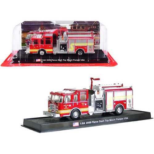 "2006 Pierce Dash Top Mount Pumper Fire Engine Red ""Wichita Fire Department"" (Kansas) 1/64 Diecast Model by Amercom"