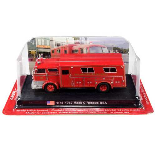 "1960 Mack C Heavy Fire Rescue Truck ""West Hempstead Fire Department"" (West Hempstead, New York) 1/72 Diecast Model by Amercom"