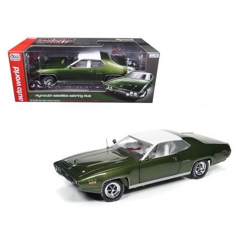 1971 Plymouth Satellite Sebring Plus Sherwood Green Metallic Limited Edition to 1002pcs 1/18 Diecast Model Car by Autoworld