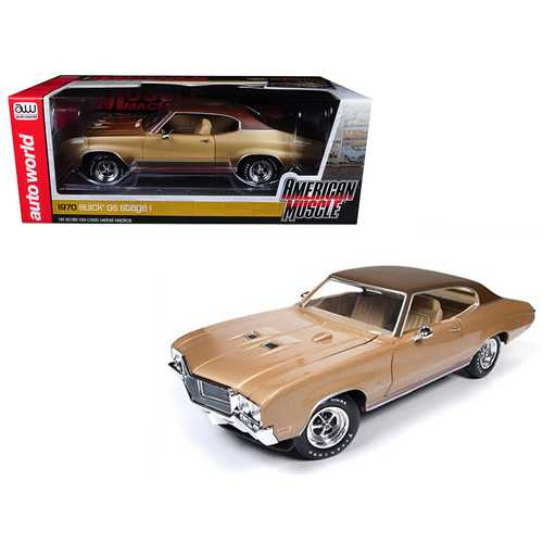 1970 Buick Skylark GS Gold Hemmings Muscle Machines Limited Edition to 1002pc 1/18 Diecast Model Car by Autoworld
