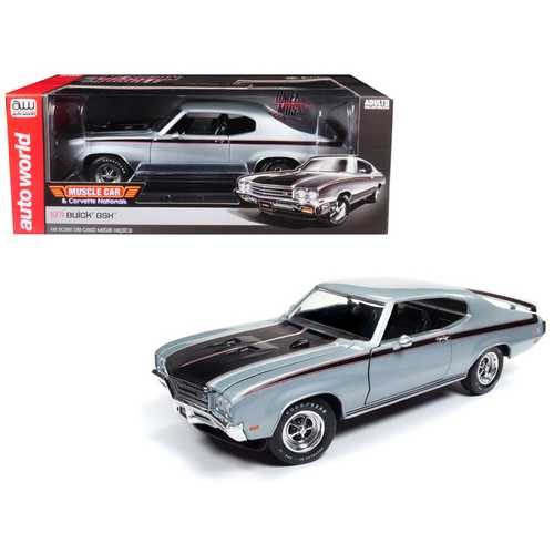 "1971 Buick GSX ""MCACN"" Platinum Mist Metallic/ Silver Limited Edition to 1002 pieces Worldwide 1/18 Diecast Model Car by Autoworld"