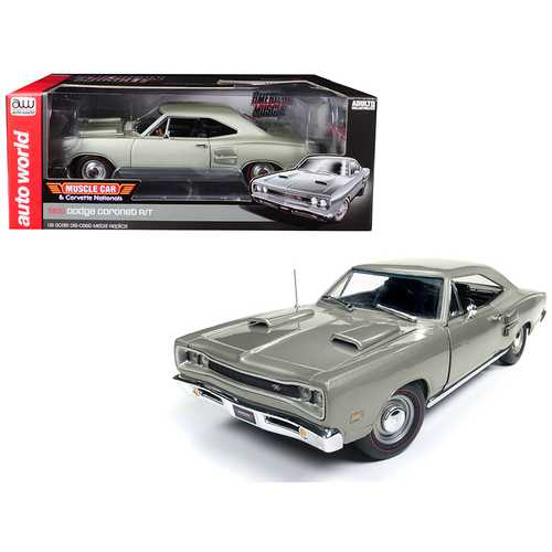 """1969 Dodge Coronet R/T Silver """"MCACN"""" Muscle Car & Corvette Nationals Limited Edition to 1002 pieces Worldwide 1/18 Diecast Model Car by Autoworld"""