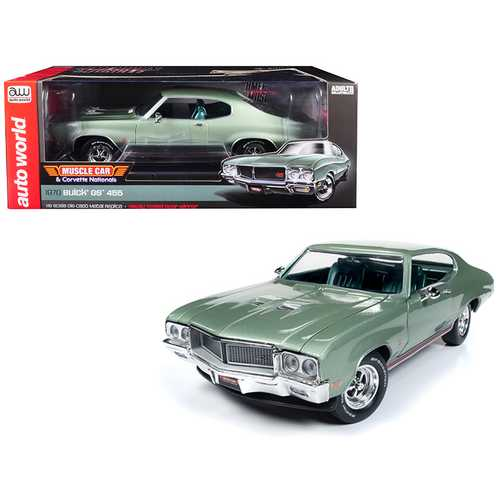 "1970 Buick Grand Sport GS 455 Hardtop ""MCACN"" (""Muscle Car and Corvette Nationals"") Seamist Green Limited Edition to 1,002 pieces Worldwide 1/18 Diecast Model Car by Autoworld"