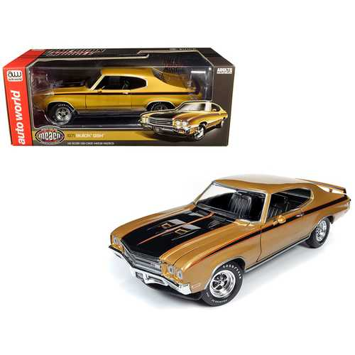 "1971 Buick GSX Hardtop Cortez Gold Metallic with Black Stripes ""Muscle Car & Corvette Nationals"" (MCACN) 1/18 Diecast Model Car by Autoworld"