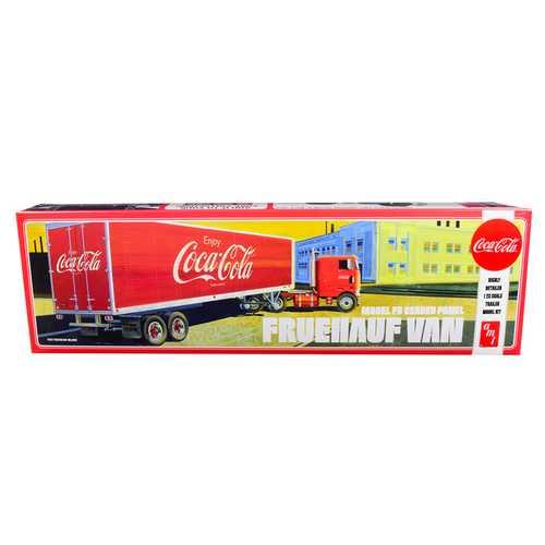 "Skill 3 Model Kit Fruehauf FB Beaded Panel Van Trailer ""Coca-Cola"" 1/25 Scale Model by AMT"