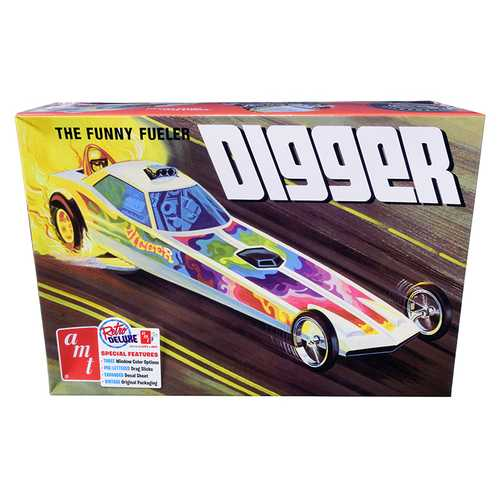 "Skill 2 Model Kit Digger Dragster ""The Funny Fueler"" 1/25 Scale Model by AMT"