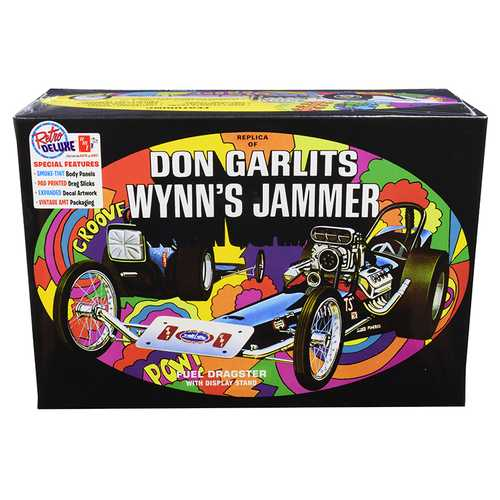 Skill 2 Model Kit Don Garlits Wynn's Jammer Dragster with Display Stand 1/25 Scale Model by AMT