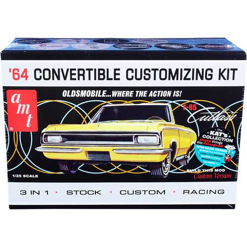 Skill 2 Model Kit 1964 Oldsmobile Cutlass F-85 Convertible 3-in-1 Kit 1/25 Scale Model by AMT