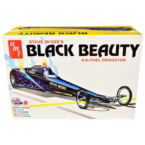 Skill 2 Model Kit Steve McGee's Black Beauty Wedge AA/Fuel Dragster 1/25 Scale Model by AMT