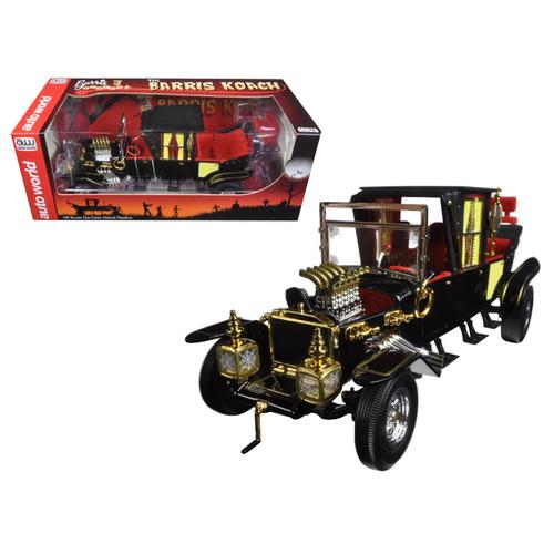 George Barris Munsters Koach Black 1/18 Diecast Model Car by Autoworld