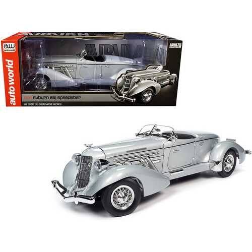 1935 Auburn 851 Speedster Haze Gray 1/18 Diecast Model Car by Autoworld