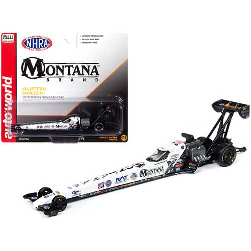 "2019 NHRA TFD (Top Fuel Dragster) Austin Prock ""Montana Brand"" 1/64 Diecast Model Car by Autoworld"