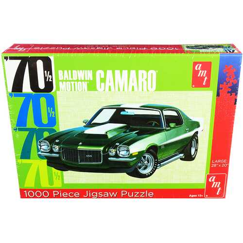 Jigsaw Puzzle 1970 1/2 Baldwin Motion Chevrolet Camaro MODEL BOX PUZZLE (1000 piece) by AMT