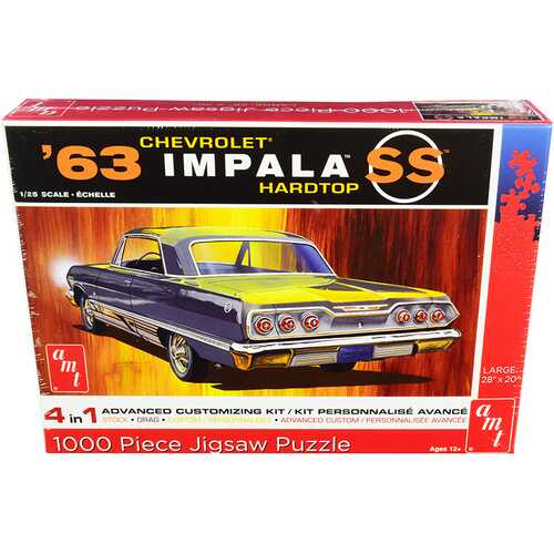 Jigsaw Puzzle 1963 Chevrolet Impala SS Hardtop MODEL BOX PUZZLE (1000 piece) by AMT