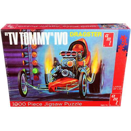 """Jigsaw Puzzle """"TV Tommy"""" Ivo Dragster MODEL BOX PUZZLE (1000 piece) by AMT"""