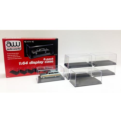 6 Display Cases for 1/64 Scale Model Cars by Autoworld