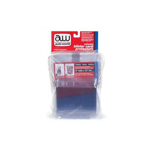 Universal Blister Card Protector 6 Packs for 1/64 Scale Models by Autoworld
