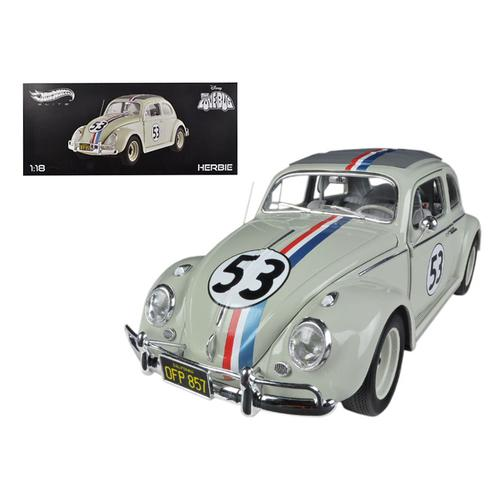 "1963 Volkswagen Beetle ""The Love Bug"" Herbie #53 Elite Edition 1/18 Diecast Car Model by Hotwheels"