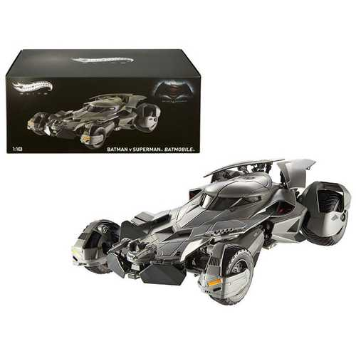"Dawn of Justice Batmobile From ""Batman vs Superman"" Movie Elite Edition 1/18 Diecast Model Car by Hotwheels"