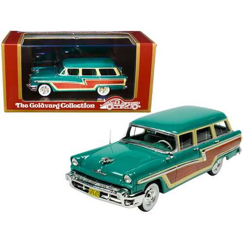 1956 Mercury Monterey Station Wagon Health Green with Wood Paneling Limited Edition to 220 pieces Worldwide 1/43 Model Car by Goldvarg Collection