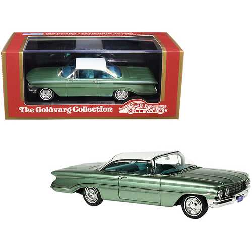 1960 Oldsmobile Fern Green Mist Metallic with White Top Limited Edition to 220 pieces Worldwide 1/43 Model Car by Goldvarg Collection