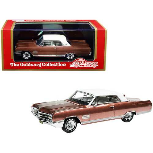 1964 Buick Wildcat Dark Coral Mist Metallic with White Top Limited Edition to 220 pieces Worldwide 1/43 Model Car by Goldvarg Collection