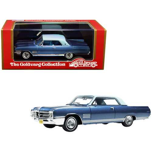 1964 Buick Wildcat Diplomat Blue Metallic with Light Blue Top Limited Edition to 220 pieces Worldwide 1/43 Model Car by Goldvarg Collection