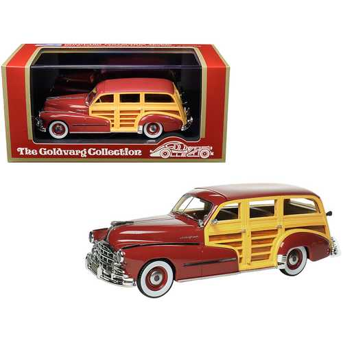 1948 Pontiac Streamlined Woodie Rio Red Limited Edition to 200 pieces Worldwide 1/43 Model Car by Goldvarg Collection