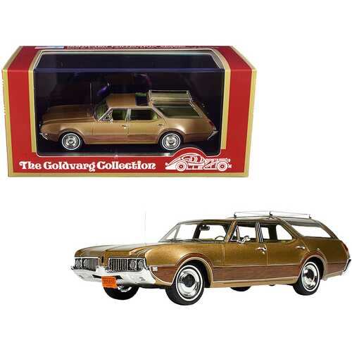 1969 Oldsmobile Vista Cruiser with Roof Rack Aztec Gold Metallic with Wood Paneling Limited Edition to 230 pieces Worldwide 1/43 Model Car by Goldvarg Collection