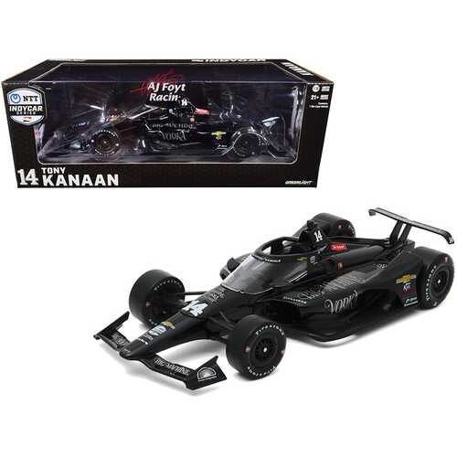 "Dallara IndyCar #14 Tony Kanaan ""Big Machine Vodka"" A.J. Foyt Enterprises ""NTT IndyCar Series"" (2020) 1/18 Diecast Model Car by Greenlight"