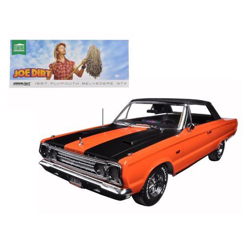 "1967 Plymouth Belvedere GTX Convertible Orange ""Joe Dirt"" Movie (2001) 1/18 Diecast Car Model by Greenlight"