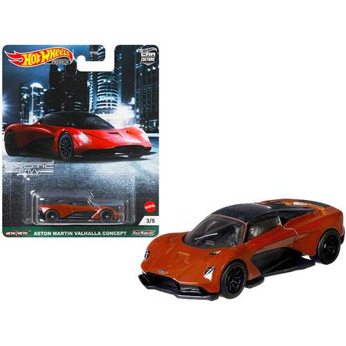 """Aston Martin Valhalla Concept """"Exotic Envy"""" Series Diecast Model Car by Hot Wheels"""